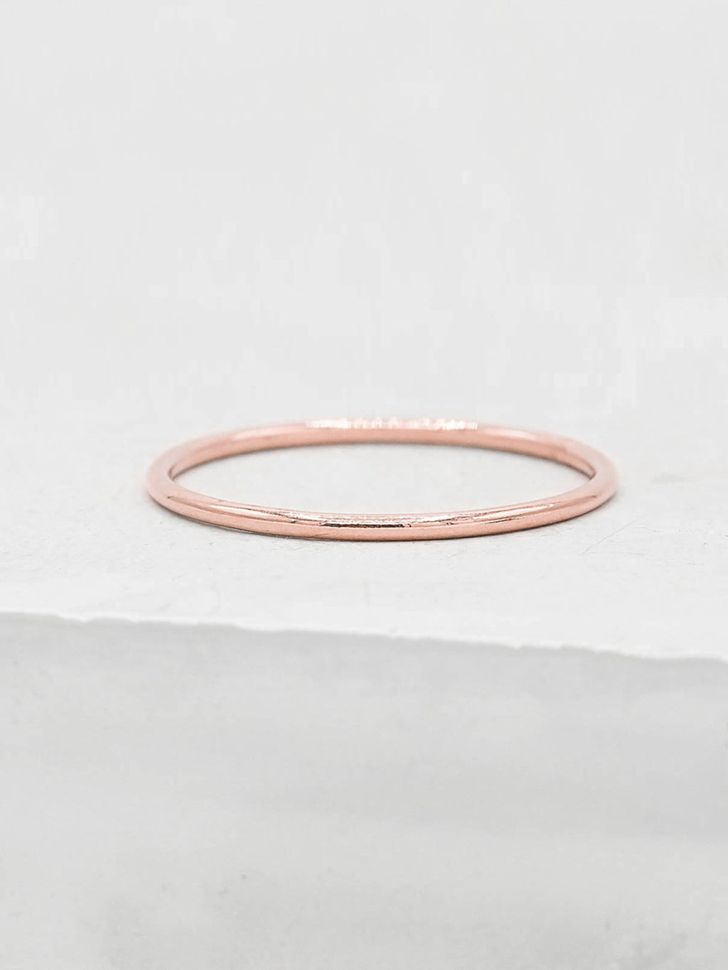 1mm Stacker Rose Gold Filled Band by The Faint Hearted Jewelry