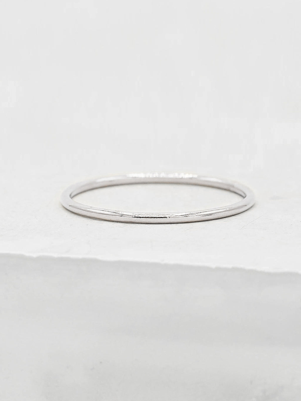 Sterling Silver 1mm Stacker Band by The Faint Hearted Jewelry