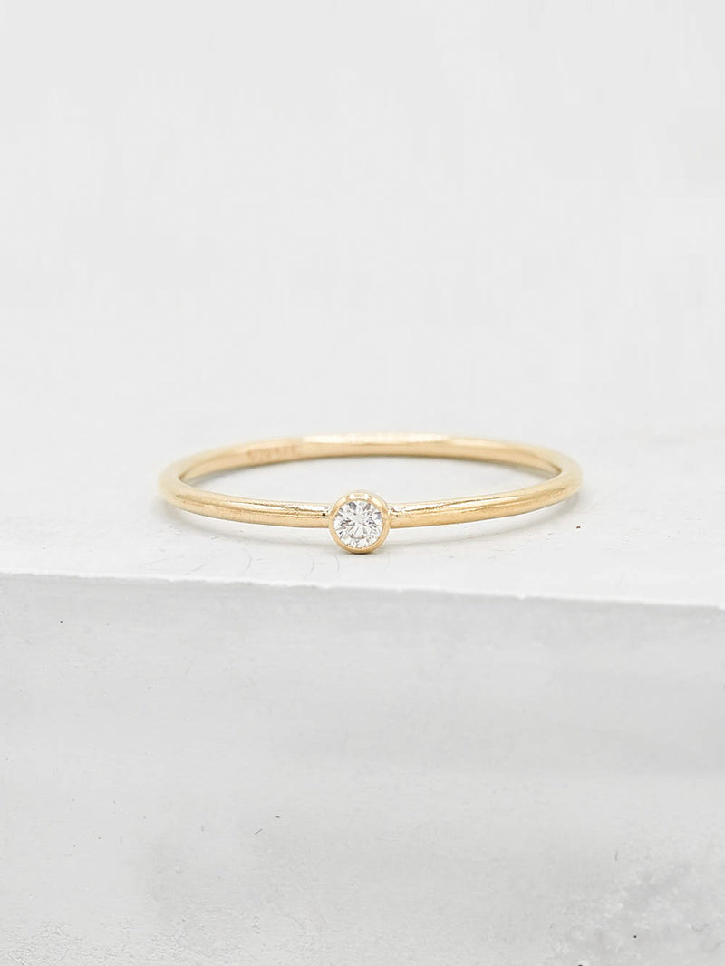 1mm CZ Stacking Gold Filled Band by The Fain Hearted Jewelry