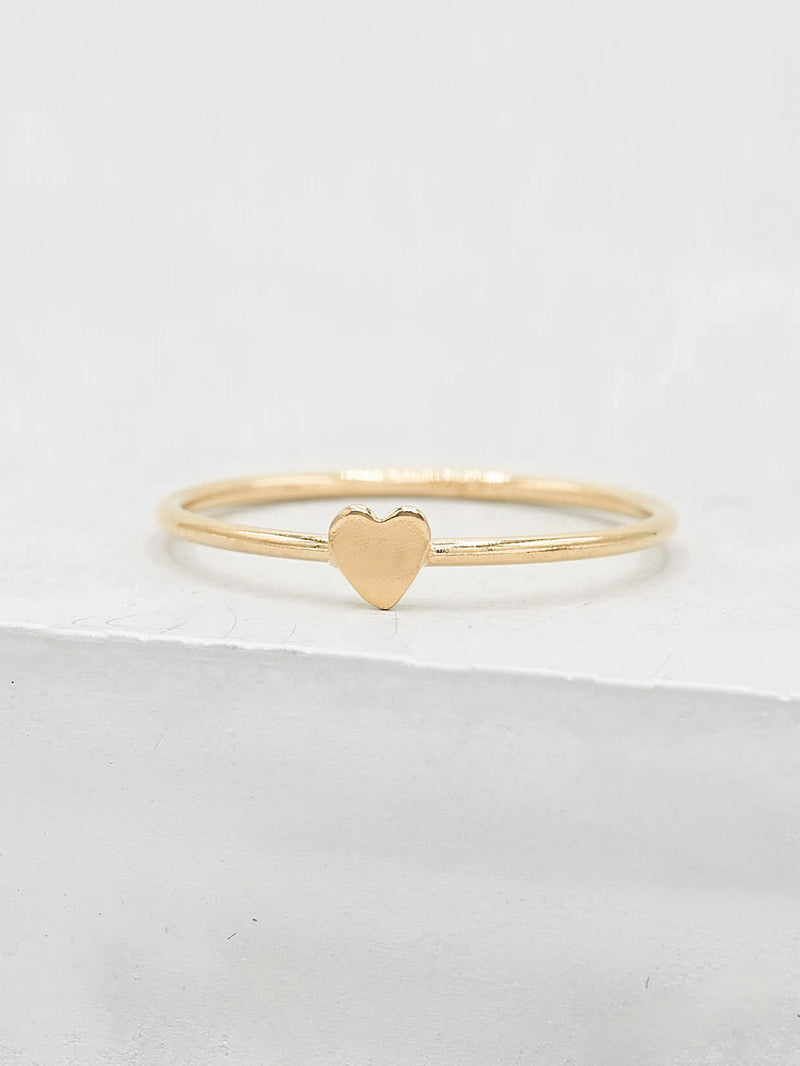 Heart Stacker - Gold Filled