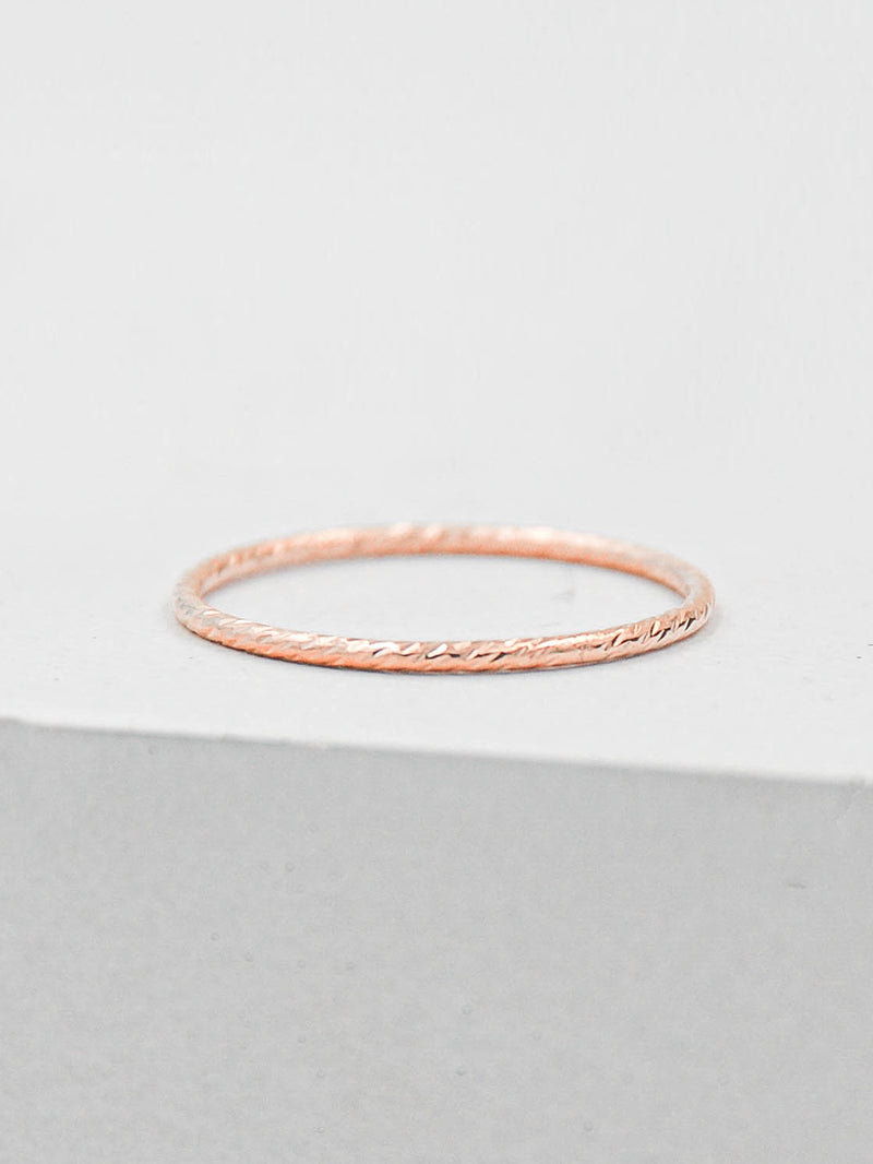 Rose Gold Filled Dainty Delicate Ring by The Faint Hearted Jewelry