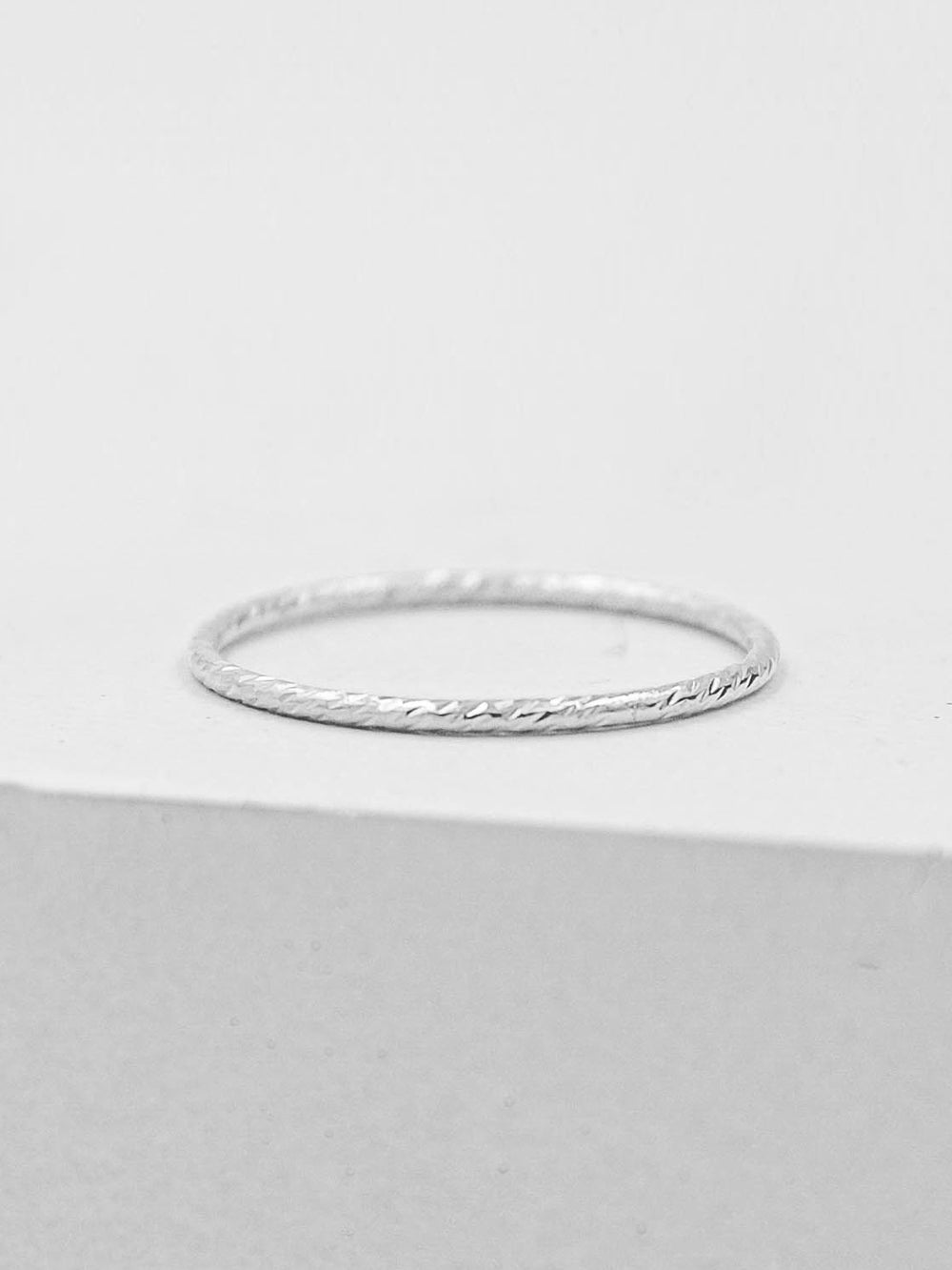 Sterling Silver Thin Band Ring by The Faint Hearted Jewelry