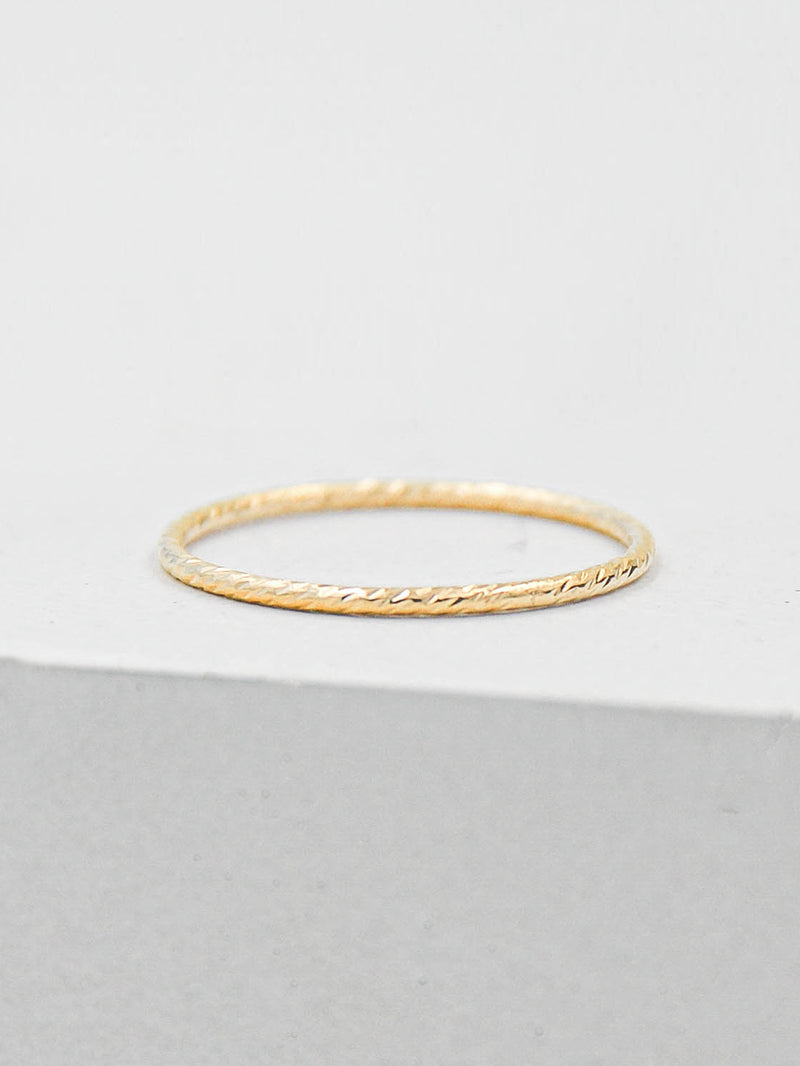 Gold Filled Thin Dainty Ring by The Faint Hearted Jewelry