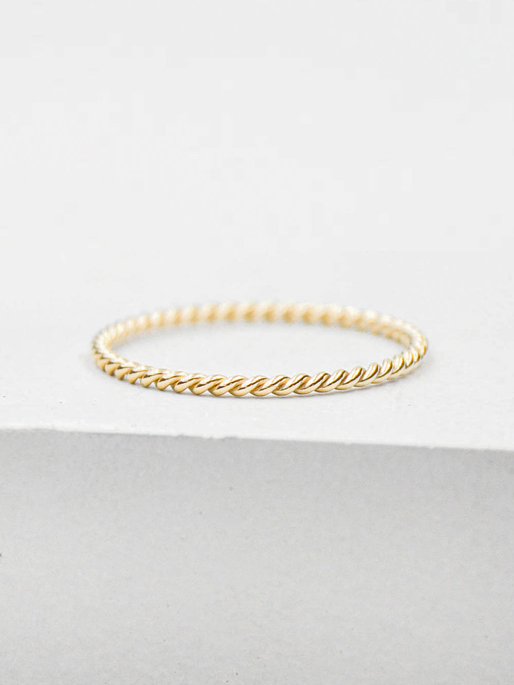 Twisted Gold Filled Ring by The Faint Hearted Jewelry