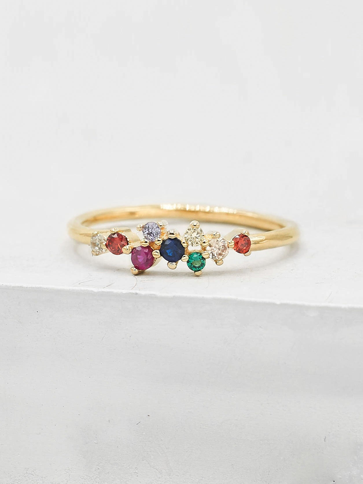 Twilight Ring - Gold + Rainbow