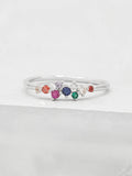 Twilight Ring - Silver + Rainbow