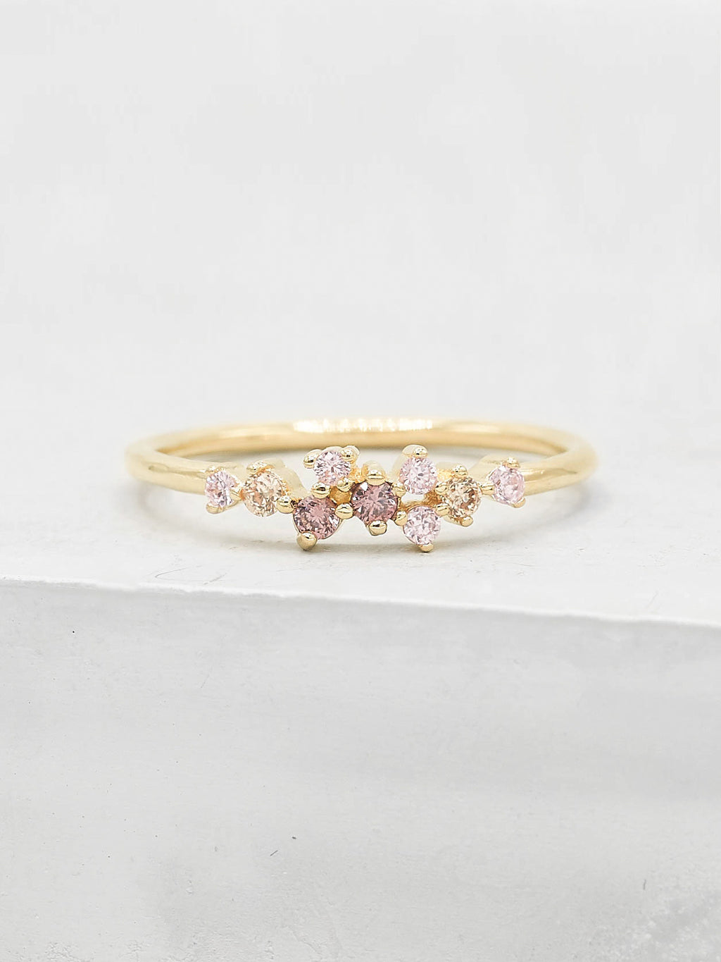 Twilight Ring - Gold + Pink
