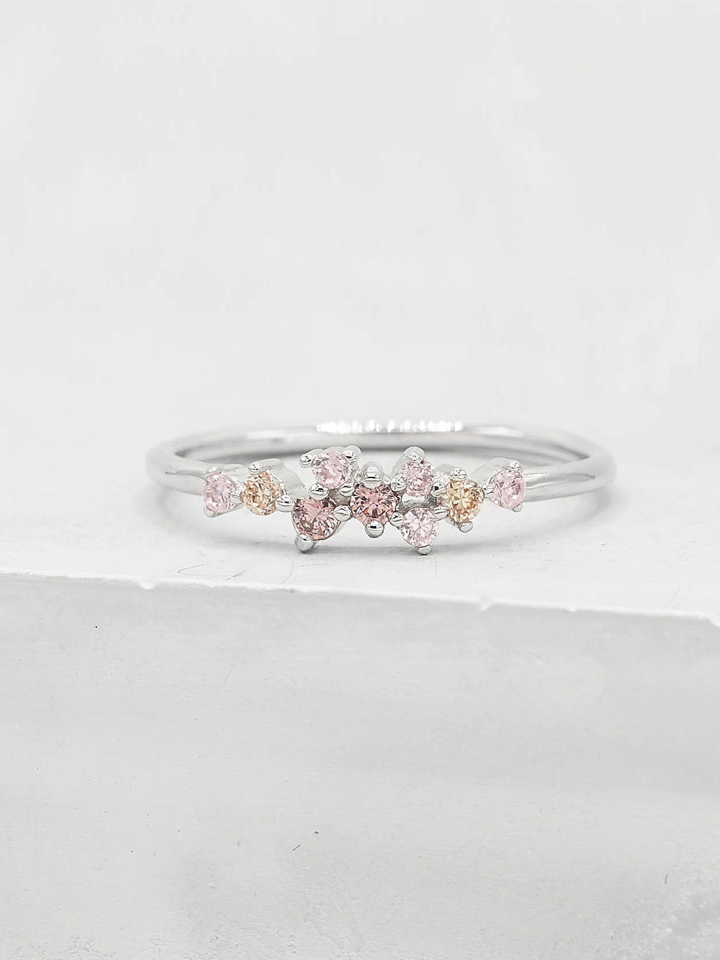 Twilight Ring - Silver + Pink
