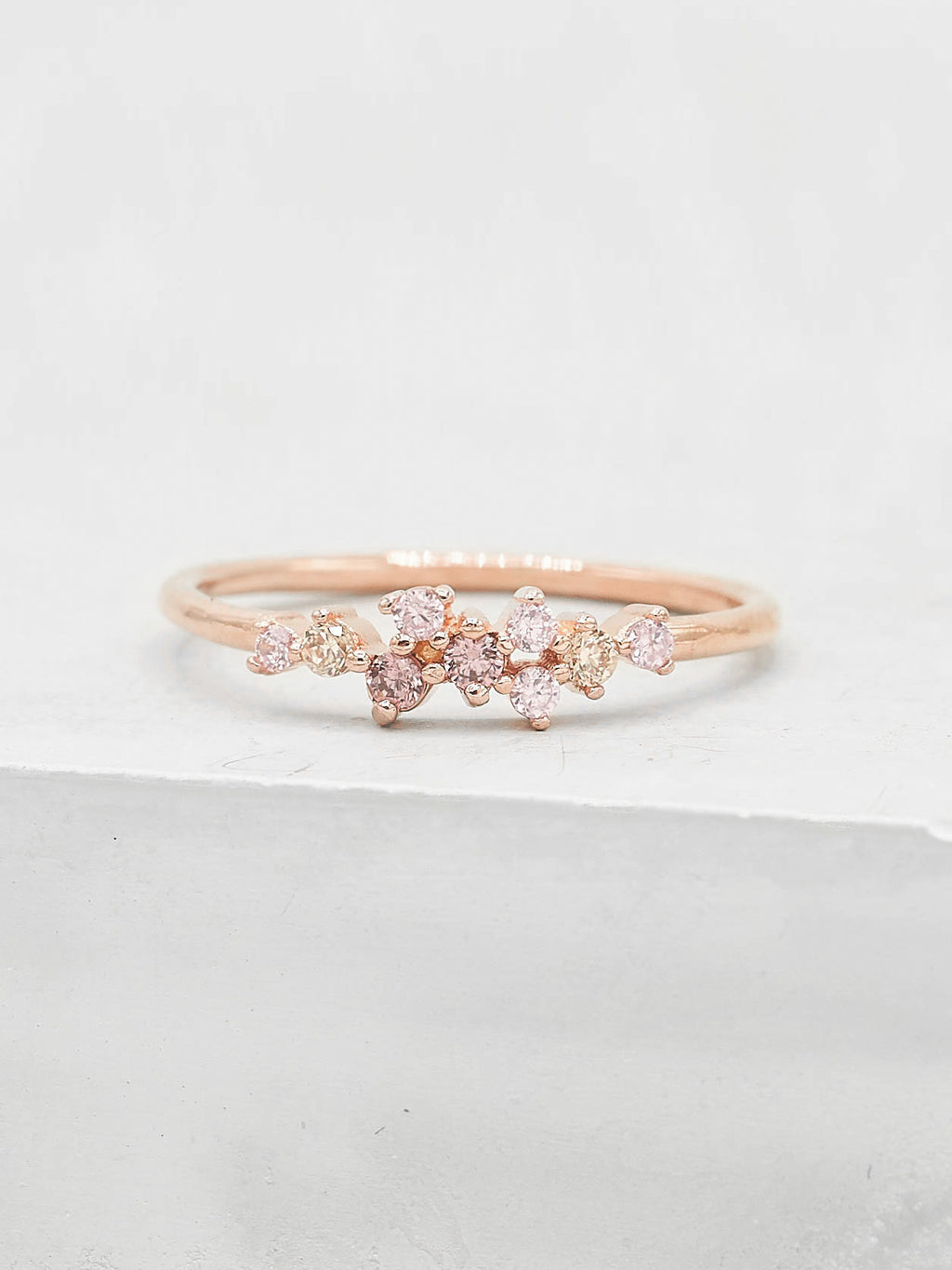 Twilight Ring - Rose Gold + Pink