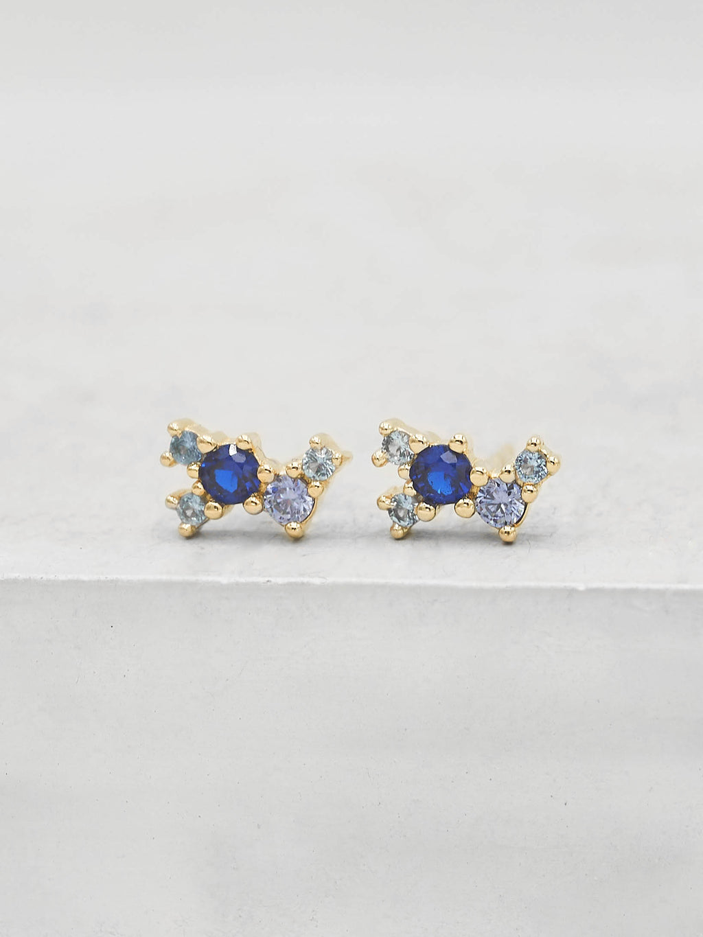 Twilight Studs -  Gold + Blue