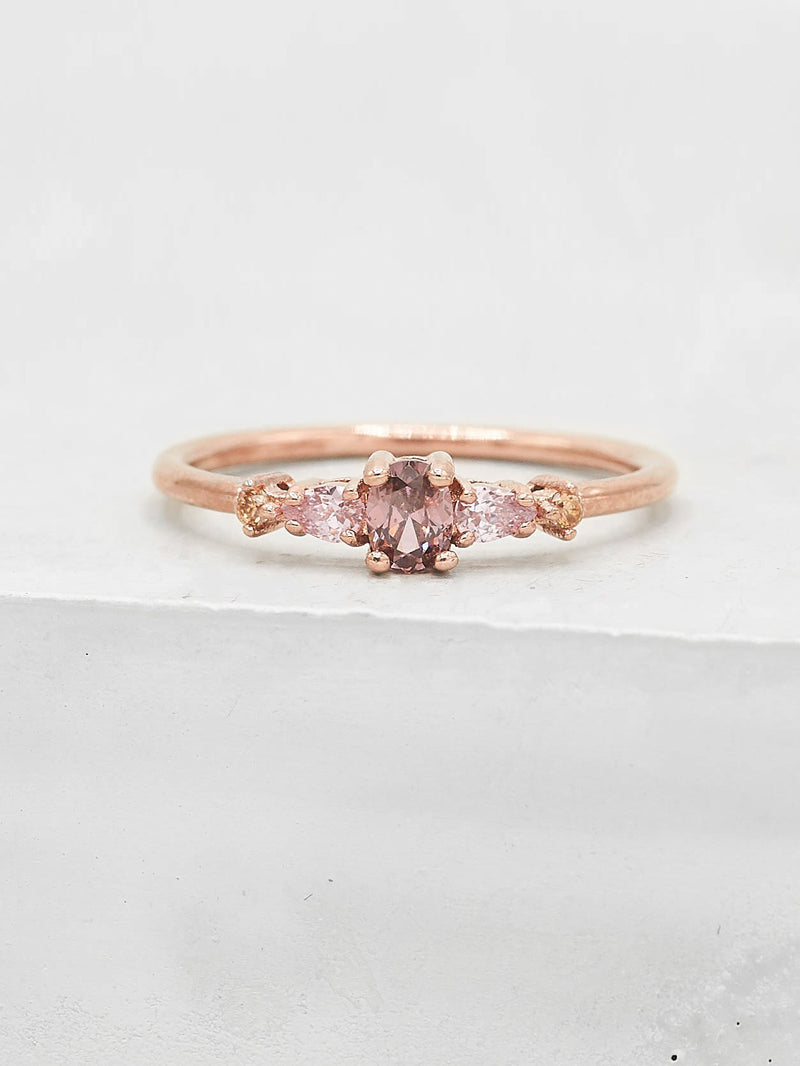 Vintage Ring - Rose Gold + Pink