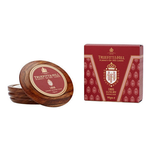 Truefitt & Hill India Shaving Products - Buy 1805 Luxury Shaving Soap in Wooden Bowl Online