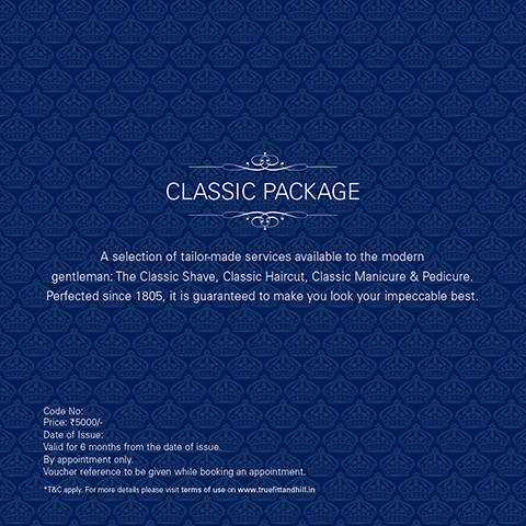 Truefitt & Hill India - Buy Classic Package Gift Voucher Online