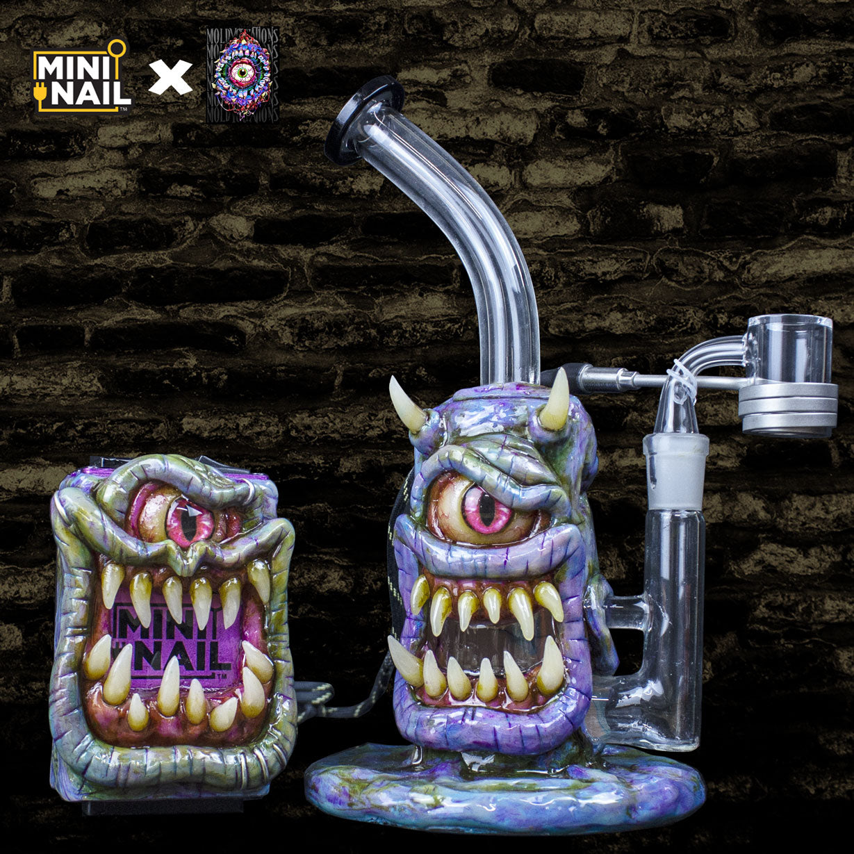MiniNail x Moldy.Creations Custom E-Nail Set #MC19