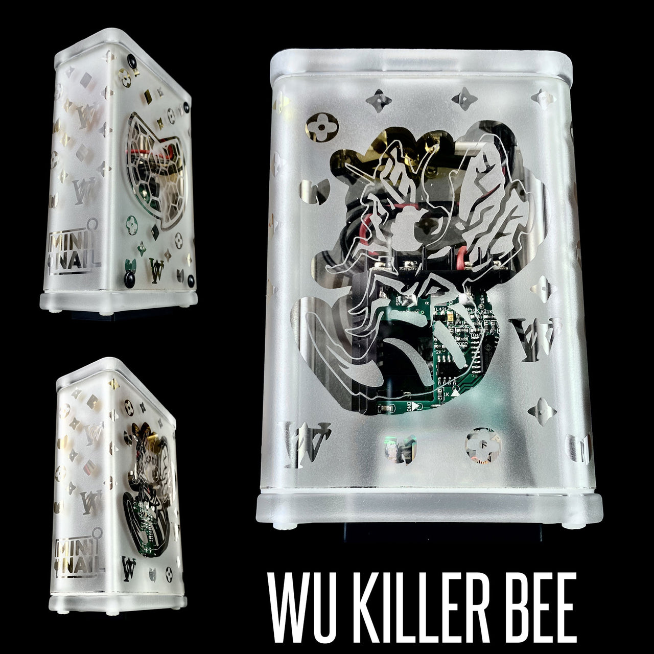 WU KILLER BEE GLASS ENAIL COMPLETE SET WITH CASE (LIMITED EDITION)