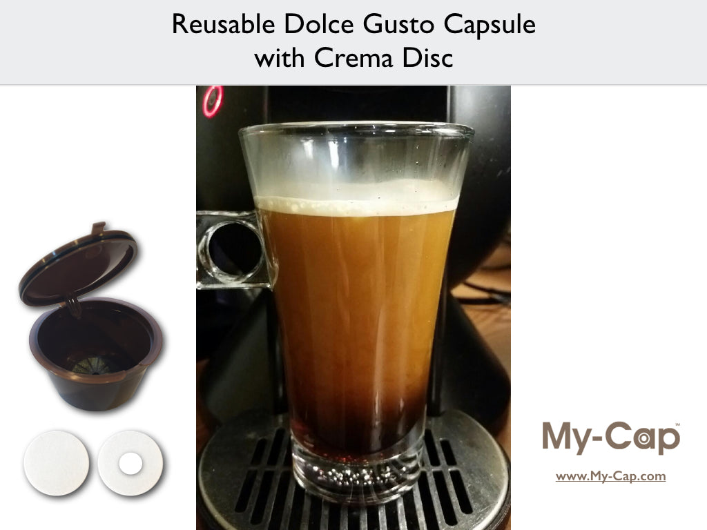 Reusable Dolce Gusto Capsule with Crema Disc