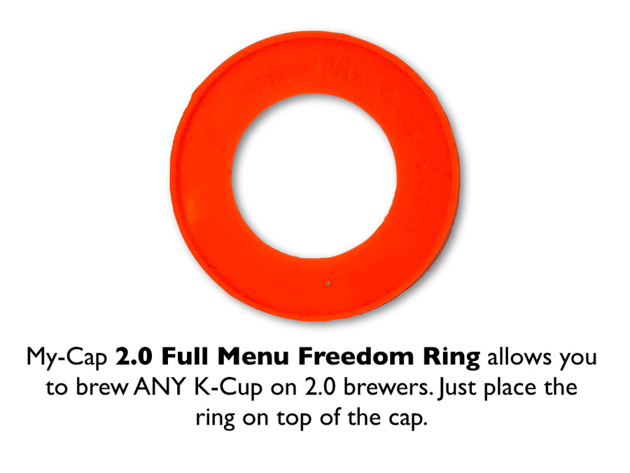 My-Cap - Full Menu Freedom Ring for Keurig 2.0 Brewers, Brew ANY K-CUP - Works with ALL 2.0 Brewers