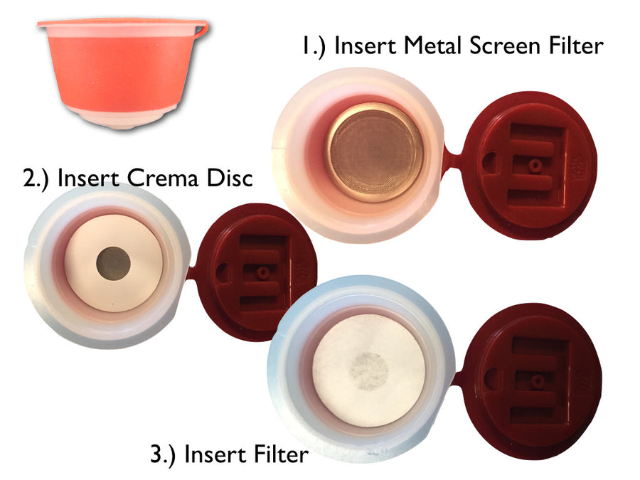 400 Filters and 3 Crema Discs for use with Reusable Capsules for use with Nescafé Dolce Gusto Brewers | Compatible with Mini Me, Genio, Piccolo, Esperta and Circolo