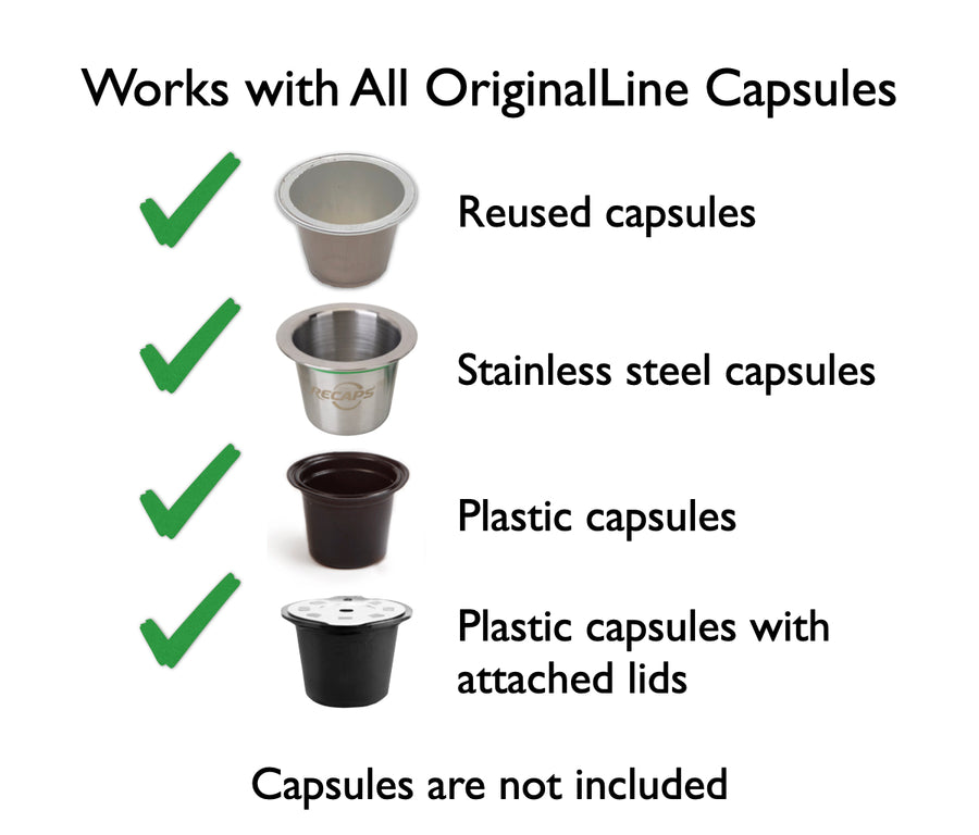 My-Cap Capsule Holder and Filler for Nespresso OriginalLine Brewers, Reusable, Refillable