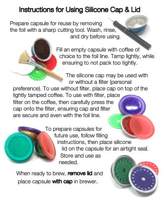 My-Cap's Silicone Caps for Nespresso VertuoLine Brewers (3-Pack)