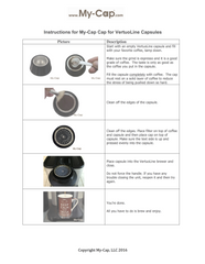 Caps for Nespresso VertuoLine Brewers Instructions