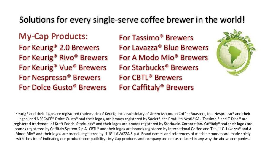 Solutions for every single-serve coffee brewer in the world!