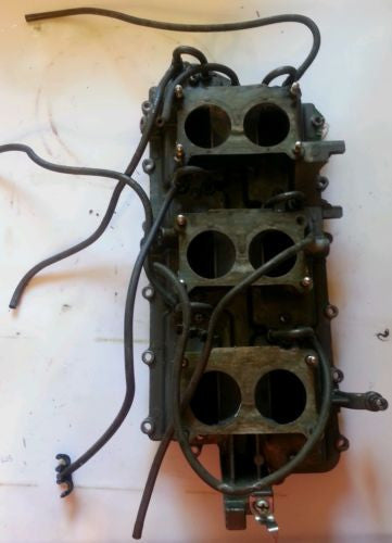 1999 Yamaha Outboard V6 150 HP INTAKE MANIFOLD and REED VALVE ASSEMBLY