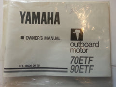 Yamaha outboard Owner's Operation Maintenance Manual 70 HP Model 70ETF 90ETF