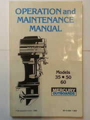 Mercury Owner's Operation Maintenance Manual 35-50-60 HP + bonus (Hc)*
