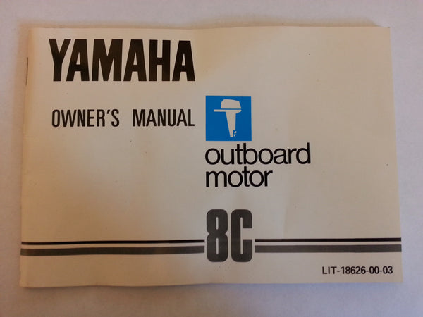 Yamaha Owner's Operation Maintenance Manual 8C USA edition HD