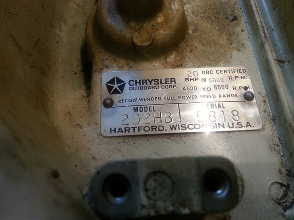 1971 Chrysler 202HB Y11464C Flywheel Assembly 20 HP mc