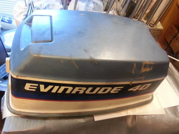 1975 Evinrude Johnson 0279759/0279758 Upper Cowling Hood Cover 40 HP (MT*)