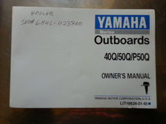 Yamaha Owner's Operation Maintenance Manual 40Q/50Q/P50Q 40-50 HP