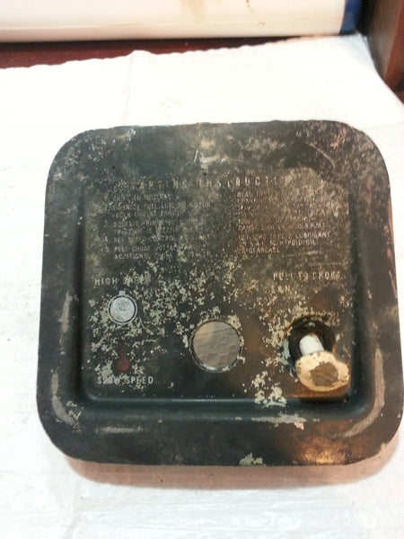 1960 Evinrude Johnson Control Panel Cover Assembly 5.5 HP (MT*)