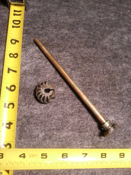 ~1955 Johnson QD-16 10 Hp Tiller Steering Handle Throttle Shaft, Pinion 0366306
