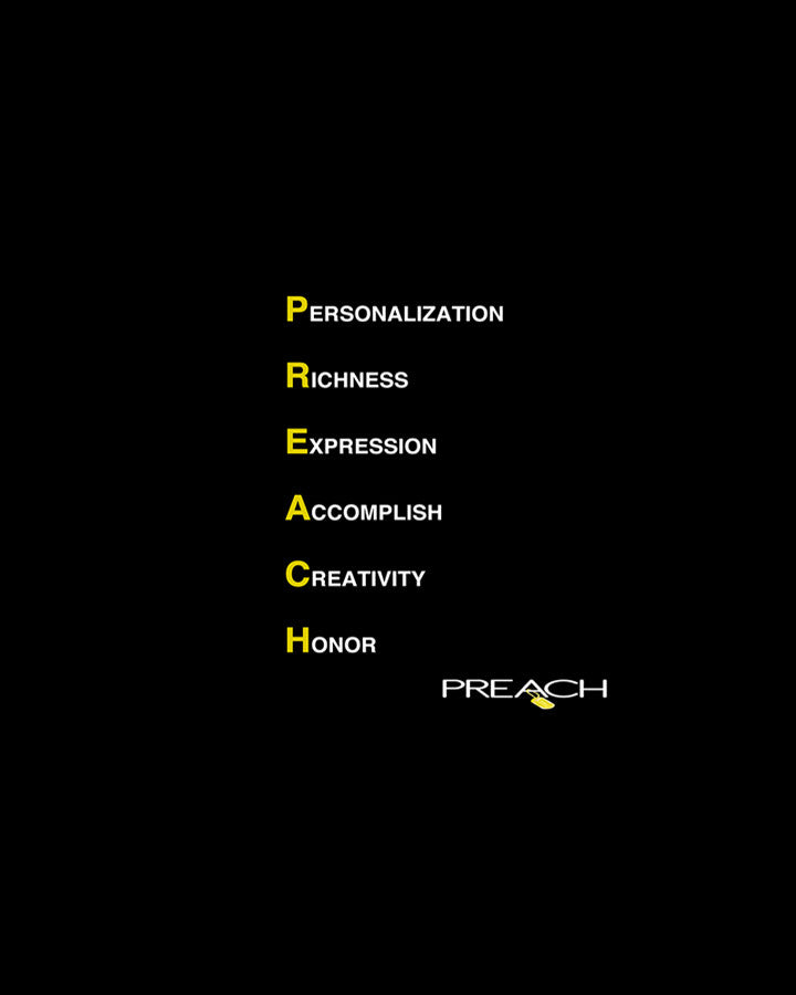 P R E A C H in Acronym form