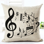 Music Series Note Printed High Qulity Cotton Linen Decorative Cushion Cover Pillow Case Car Seat 45*45cm Pillowcase Trending products - August 2018 - MORILLO ENTERPRISE