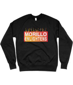 FLAMED LOGO RAGLAN SWEATSHIRT Clothing - MORILLO ENTERPRISE