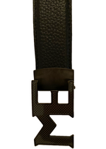 LEATHER BELT W/ ME CARBON FIBER BUCKLE