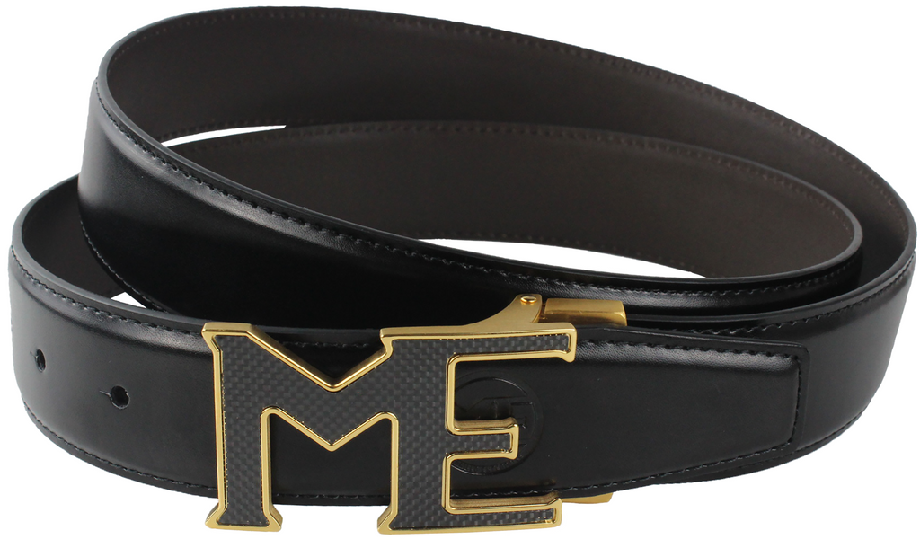 ME CARBON FIBER BUCKLE, LEATHER BELT