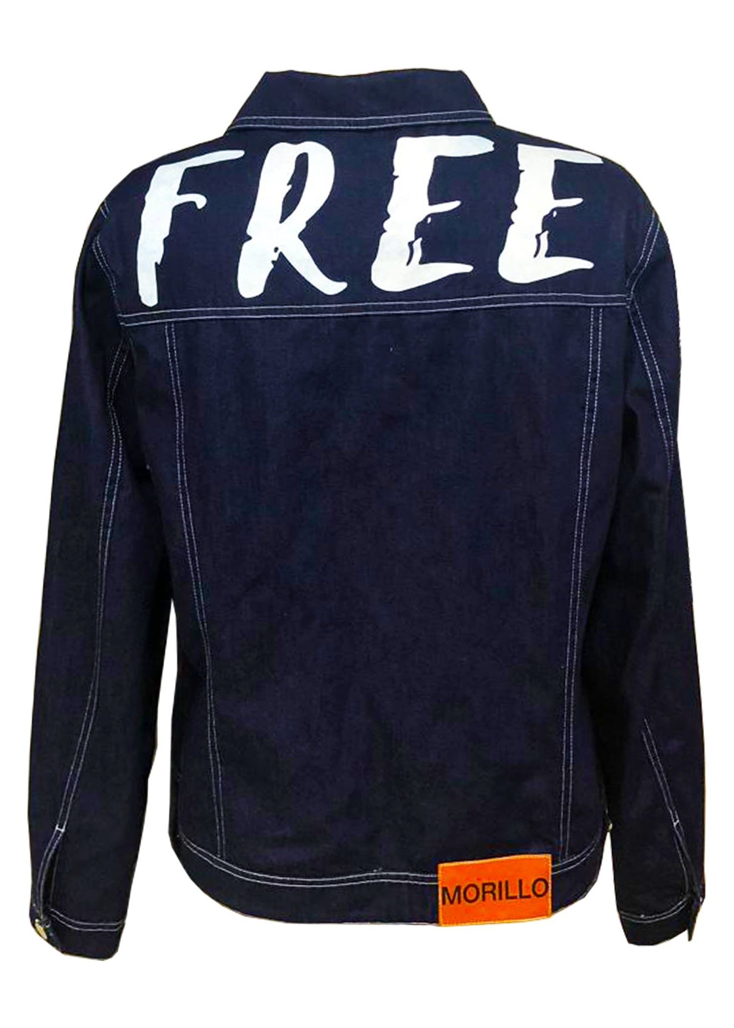 DENIM JACKET WITH PRINT Denim & Jeans - MORILLO ENTERPRISE