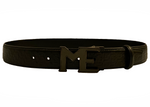 LOGO EMBOSSED LEATHER BELT W/ ME CARBON FIBER BUCKLE