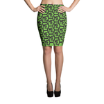 ME HONEYCOMB PATTERN PENCIL SKIRT Skirts - MORILLO ENTERPRISE