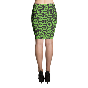 ME HONEYCOMB PATTERN PENCIL SKIRT
