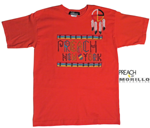 PREACH Handpainted Native American Inspired Tee T-Shirts, Crewneck - MORILLO ENTERPRISE