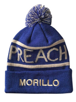 PREACH MORILLO Logo Pom Striped Wool Beanie Beanie, Accessories - MORILLO ENTERPRISE