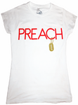 PREACH Graphic Crewneck White Tee T-Shirts, Crewneck - MORILLO ENTERPRISE