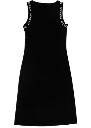 BAND JACQUARD LOGO SLEEVELESS DRESS Dress - MORILLO ENTERPRISE