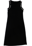 Sleeveless Banded Logo Jacquard Jersey Dress Dress - MORILLO ENTERPRISE