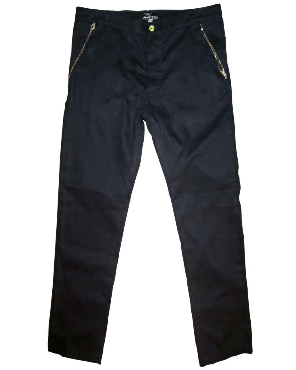 Slim Fitted Cotton Twill Zipped Pants Pants - MORILLO ENTERPRISE